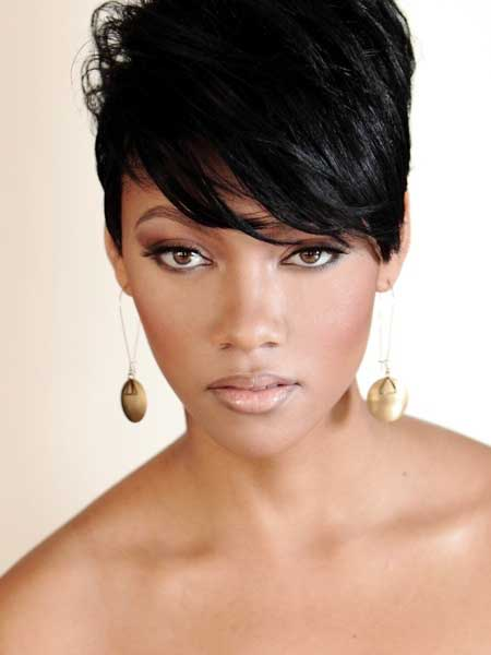 Cool and Lovely Pixie Cut Black Hair