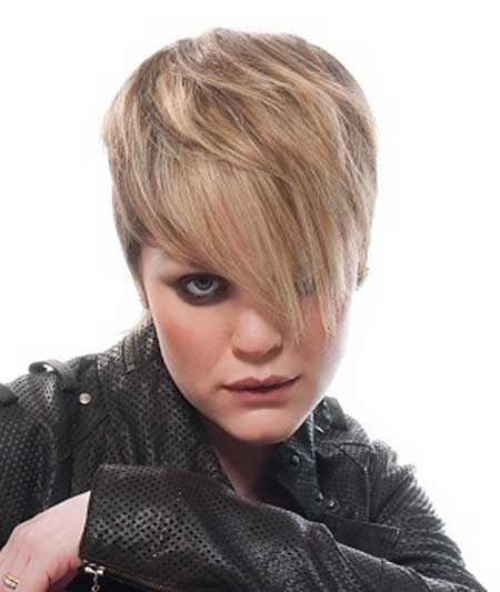 Fantastic Lovely Short Hairstyle with Long Bangs
