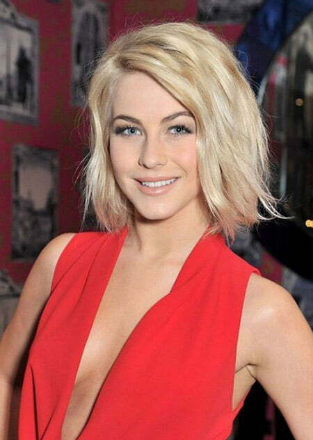 Alluring Blonde Flip Out Bob Cut