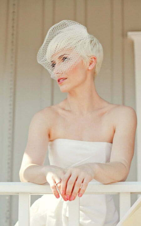 Alluring Pixie Cut for Your Wedding