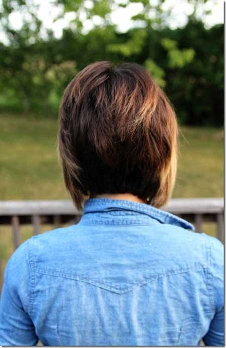 Amazing Back View of a Graduated Bob Hairstyle