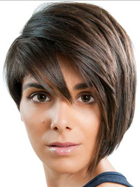 Asymmetric Short/Medium Hairstyle