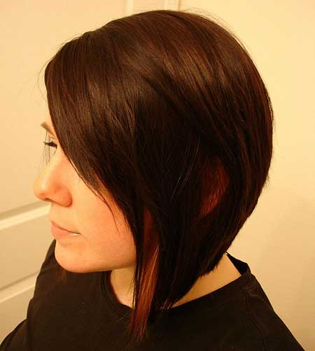 Asymmetrical Soft black Hairstyle