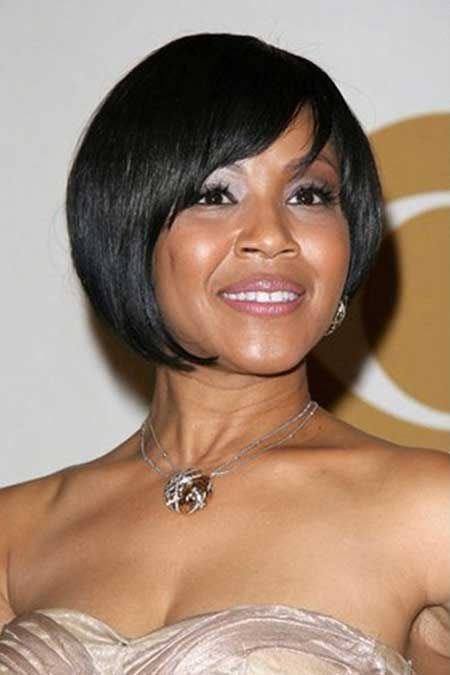 Awesome Black Asymmetric Bob Cut