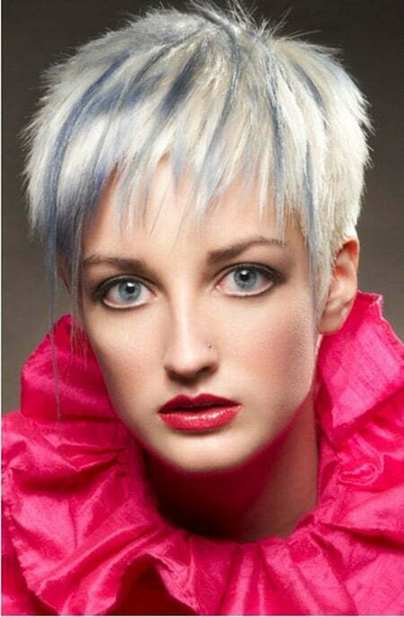 Awesome Blonde Pixie Cut with Tinge of Gray