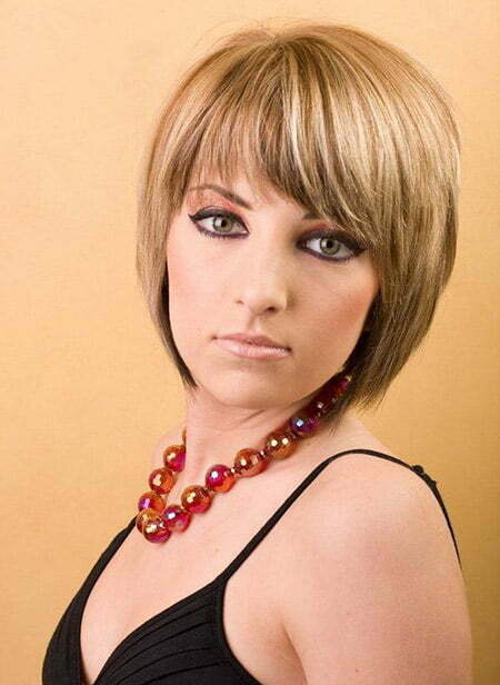 Awesome Graduated Vivid Blonde Bob Cut