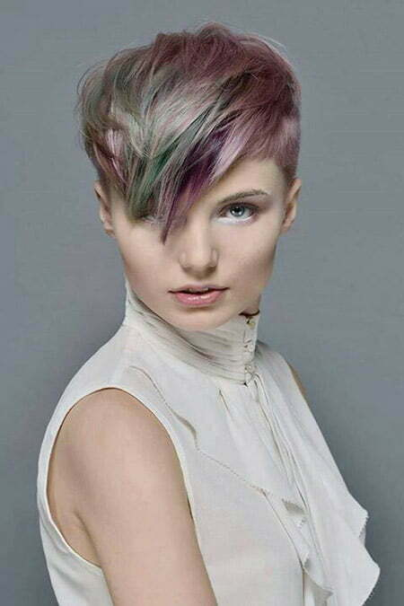 Awesome Pixie Cut with Hues of Different Colors