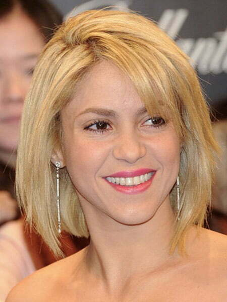 Awesome and Fabulous Bob Cut of Shakira