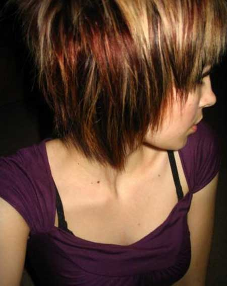 Brown Hair with Tinge of Different colors
