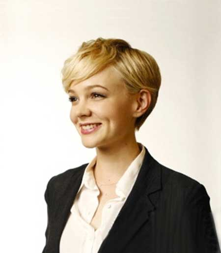 Charming Blonde Bob Cut with Side-swept Bangs