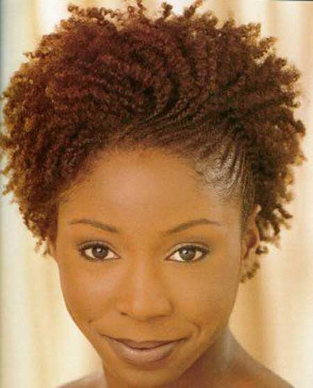 Charming Short Curly Hairstyle