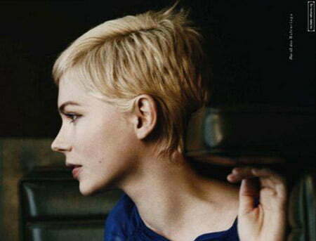 Charming and Attractive Light Blonde Pixie Cut