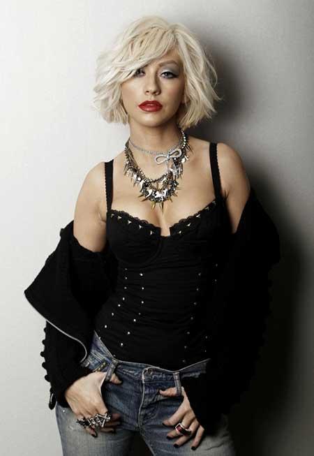 Christina Aguilera Bob Hairstyle