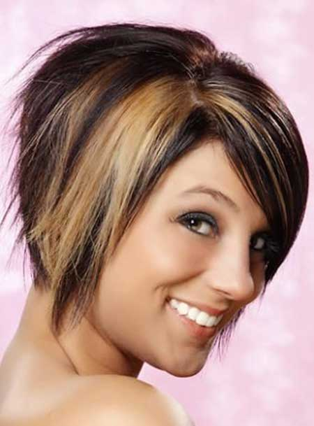 Concave Brown Hairstyle with Tinge of Dirty Blonde
