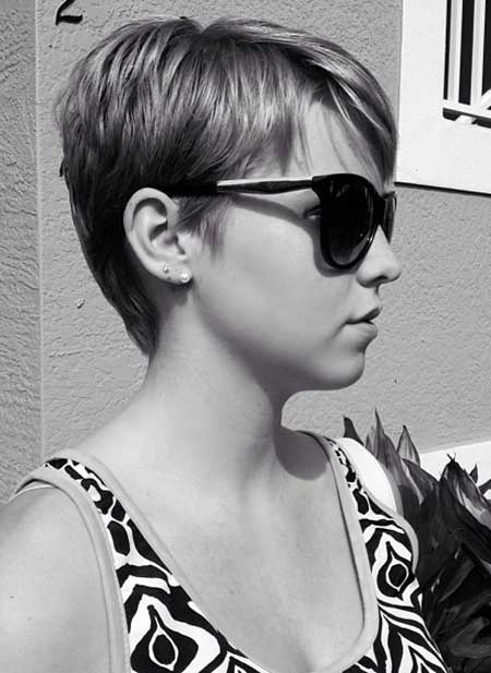 Cool Blonde Pixie Haircut