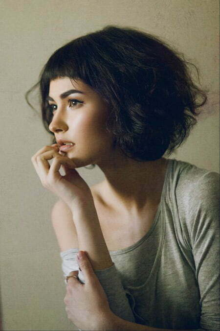bob hair style with bangs wavy hairstyles hairstyles 2017 5092