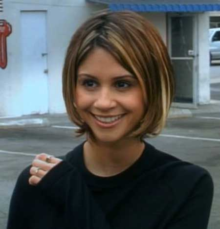 Cool Bob Hairstyle with Streaks of Blonde
