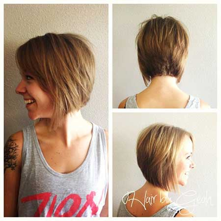 Cool Inverted Graduated Bob Haircut