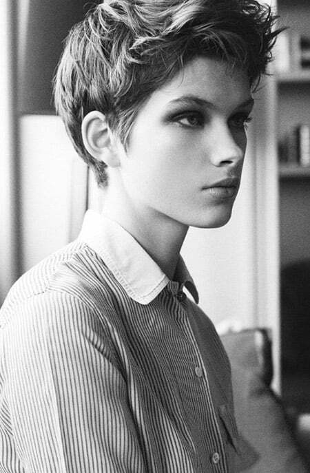 Cool Messy Pixie Cut