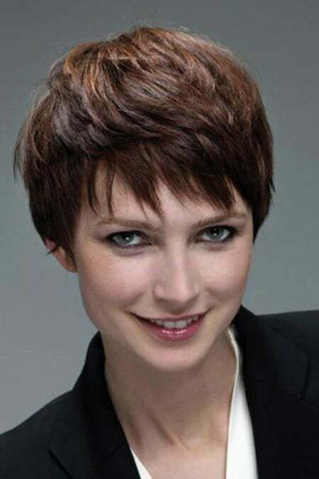Cool Pixie Hairstyle with Jagged Bangs