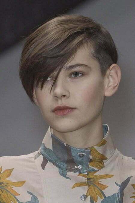 Cool and Awesome Pixie Cut with Long Bangs