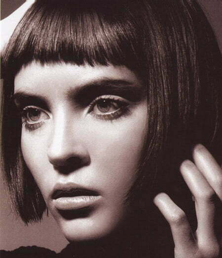Cool and Charming Classic Bob with Short Bangs