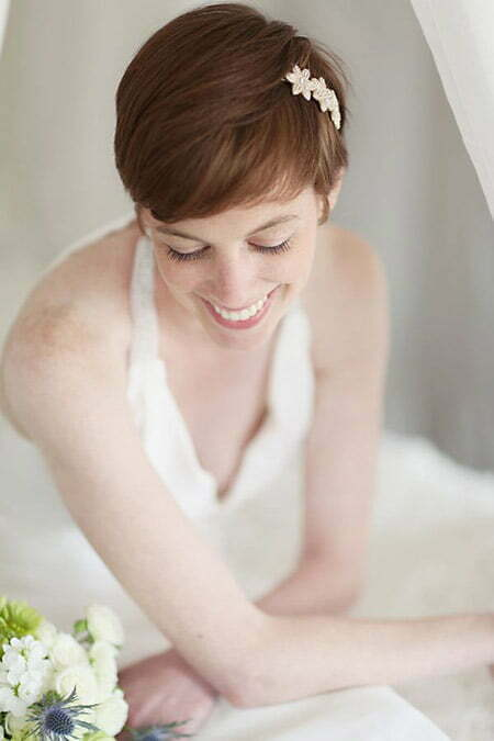 Cool and Charming Pixie Cut for your Wedding