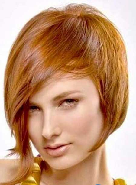 Copper Red Short Hairstyle