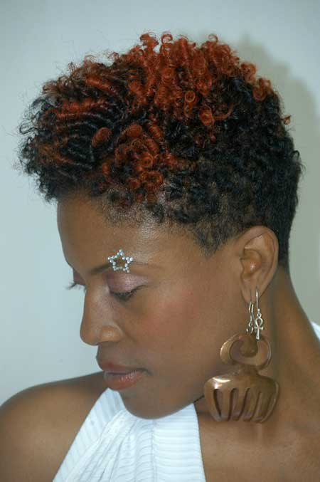 Curly Finger Twist Pixie Cut