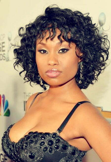 Curly Short Hair for Black Women