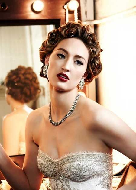 Curly Short Hairstyles for Wedding