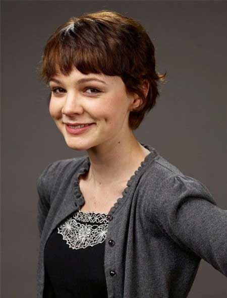 Cute Curly Hairstyle with Cool Lovely Bangs