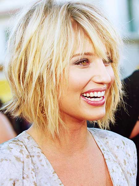Dianna Agron Layered Bob Hairstyle
