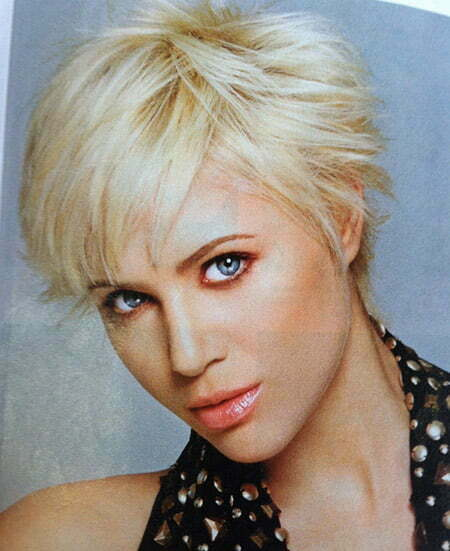 Enticing Blonde Pixie Cut