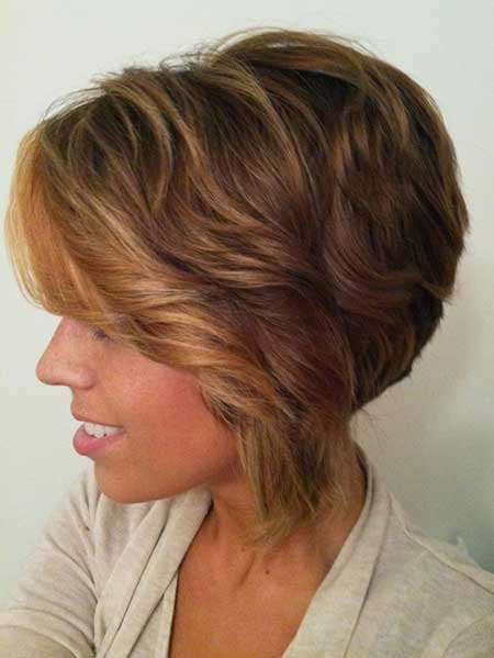 Fabulous Shaggy Inverted Bob Hairstyle