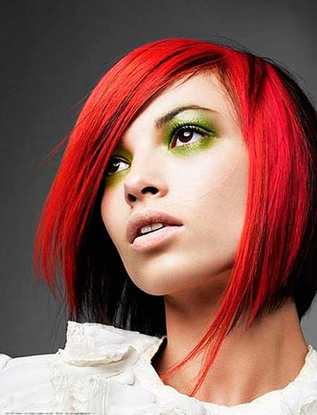 Fantastic Bob Cut with Different Color Combination