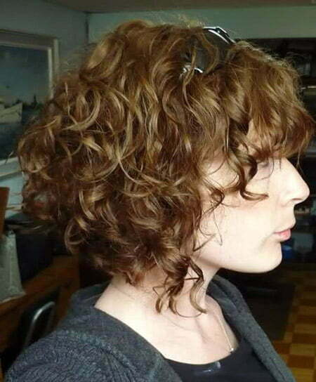 Fantastic Curly And Wavy Bob Cut