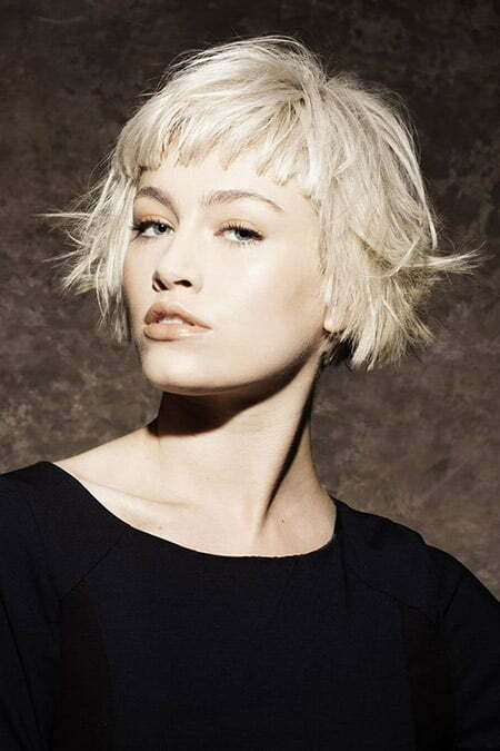 Fantastic Flip Out Blonde Bob Cut