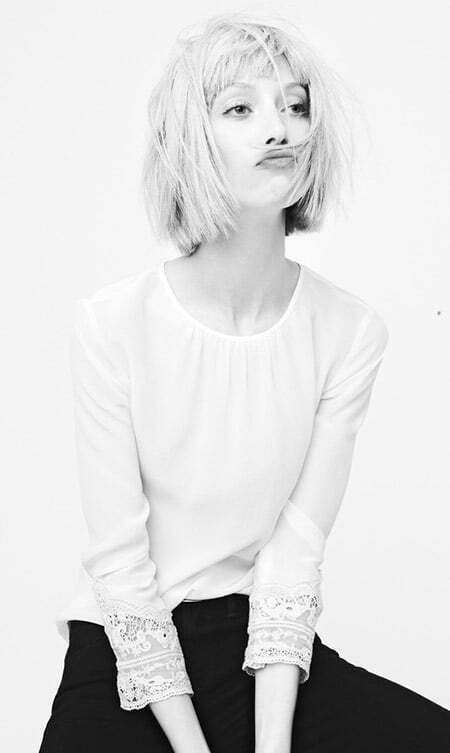 Fantastic Messy Blunt End Bob Cut