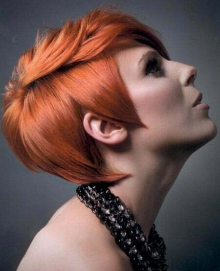 Fantastic Red Pixie Cut