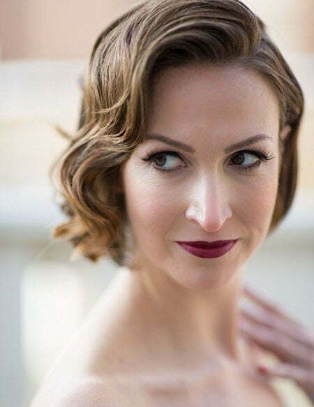 Finger Waves Short Hair Wedding