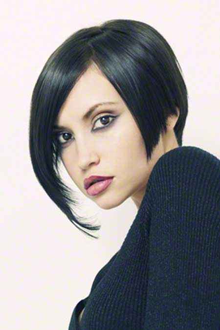 Full Long Side-swept Asymmetric Bob Cut