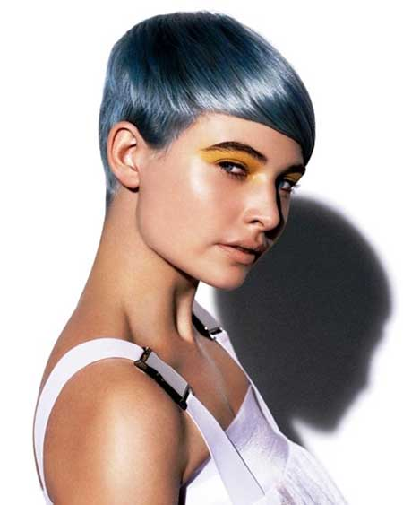 Innovative Short Blue Hairstyle