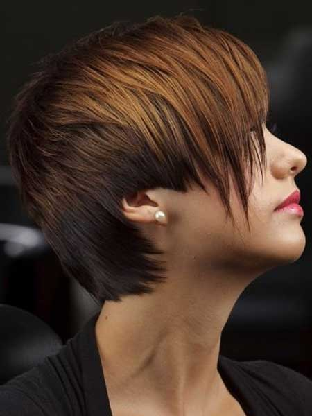 Intriguing Asymmetric Pixie Cut with Different Hues