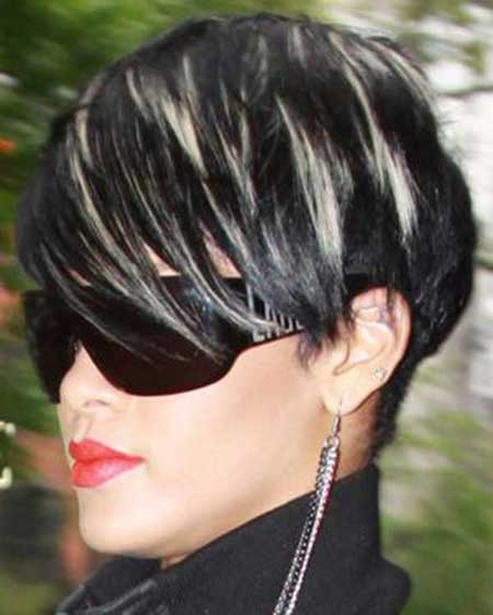 Jazzy Black Hair with tinge of White Color