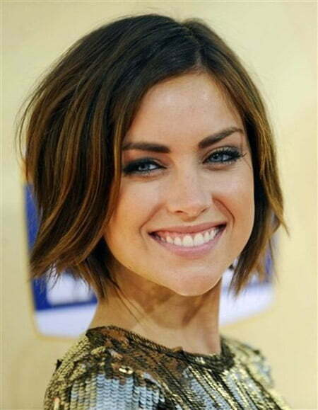 Jessica Stroup's Blunt End Wavy Hairstyle