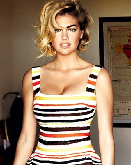 Kate Upton's Gorgeous Asymmetric Bob Cut