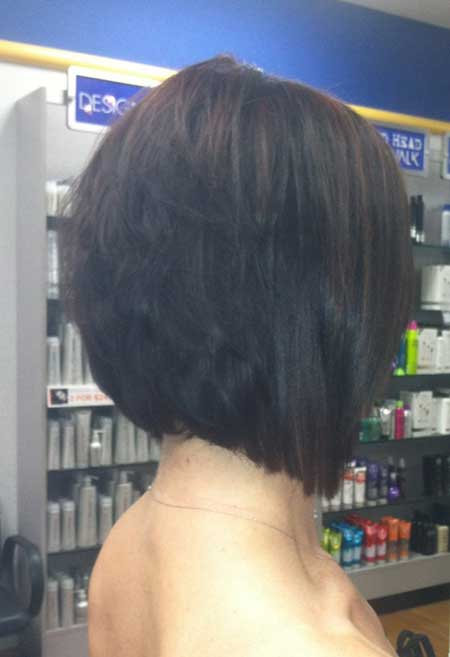 Layered Black Bob Haircut