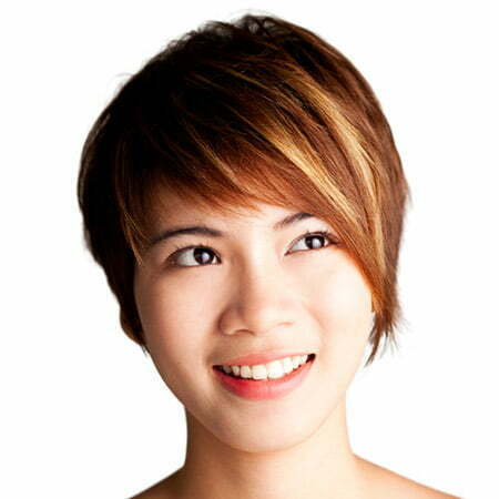 Light Copper-Colored Bob Cut