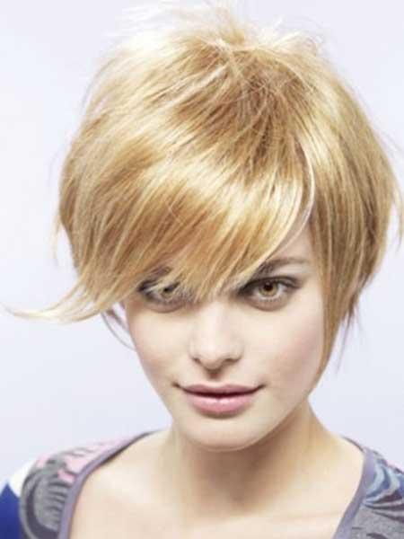 Longer Blonde Pixie Haircut